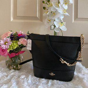 Coach black gold crossbody purse NWT